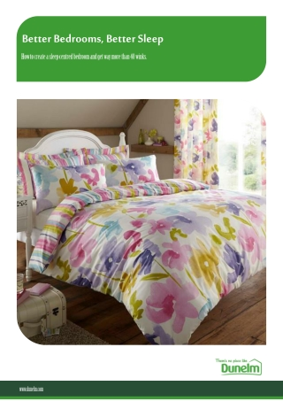 Better Bedrooms, Better Sleep - Dunelm