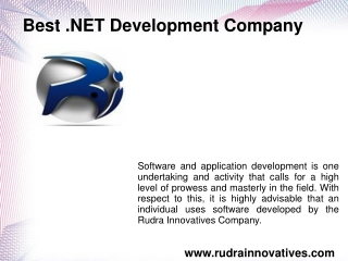 Best .NET Development Company