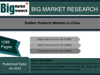 Rubber Products Markets in China