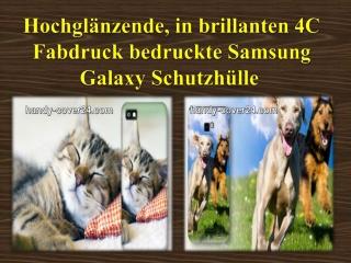 Hochglänzende, in brillanten 4C Fabdruck bedruckte Samsung