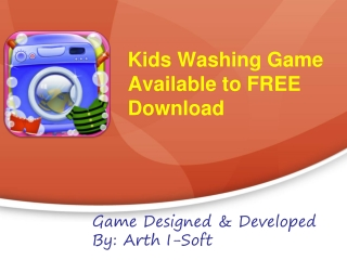 Kids washing game available to free download