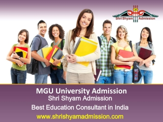 MGU University Courses - Shri Shyam Admission Delhi