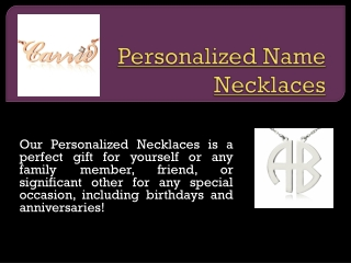 Personalized Necklaces For Moms