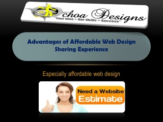 Advantages of Affordable Web Design- Sharing Experience