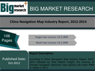 China Navigation Map Industry Report, 2012-2014