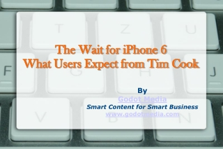 The Wait for iPhone 6 - What Users Expect from Tim Cook