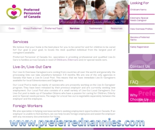 Preferred Nanny services