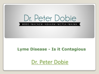Lyme Disease - Is it Contagious
