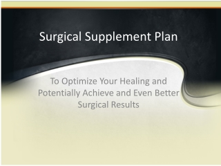 Surgical Supplement Plan
