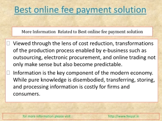 Website for Best online fee payment solution