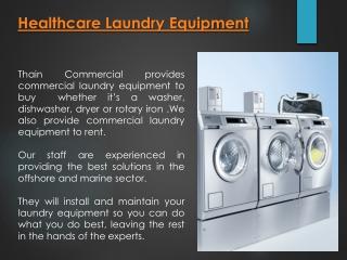 Healthcare Laundry Equipment Scotland