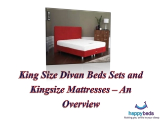 King Size Divan Beds Sets and Kingsize Mattresses – An Overv