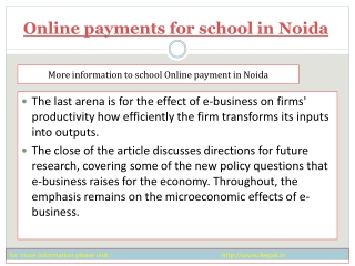 The best online resource of online payment for school in No