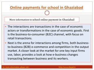 The interesting information about Online payment for school