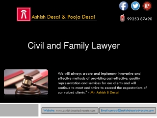 Civil and family Lawyer Ahmedabad