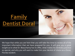 Cosmetic Dentist Doral
