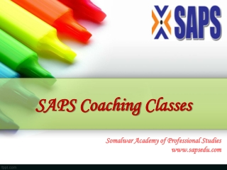 SAPS Coaching Classes Available In Nagpur