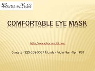 Comfortable Eye Mask