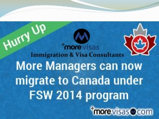 Canada FSW Program Occupation list 2014 for Managers