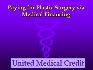 Paying for Plastic Surgery via Medical Financing