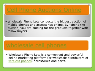 Cell Phone Auctions