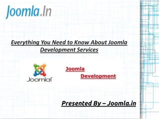 Everything You Need to Know About Joomla Development Service