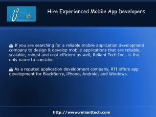 Experienced Mobile App Developers