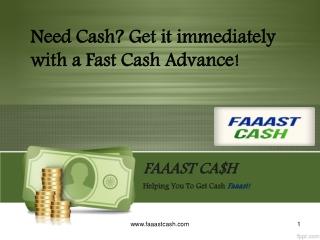 FaaastCash, A Payday Loan provider company in California