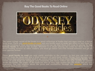 Buy The Good Books To Read Online