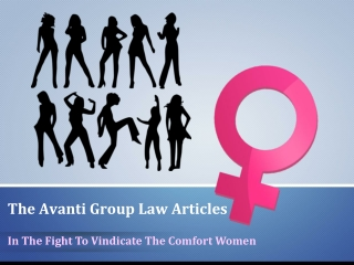 The Avanti Group Law articles The Comfort Women