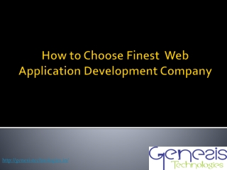 how to choose finest web development company