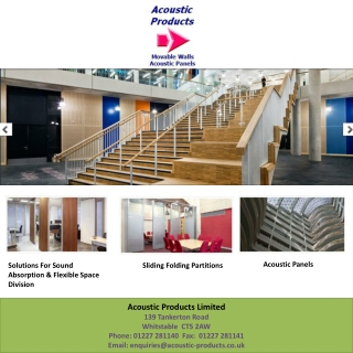 Acoustic Products | Panels | Movable Walls | Topakustik | To