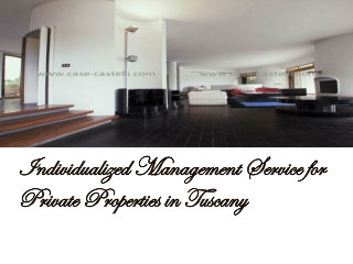 Individualized Management Service for Private Properties