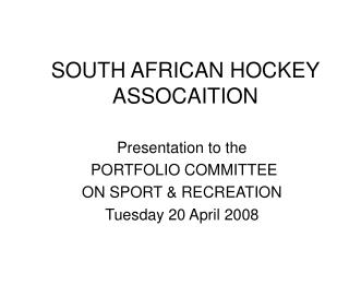 SOUTH AFRICAN HOCKEY ASSOCAITION