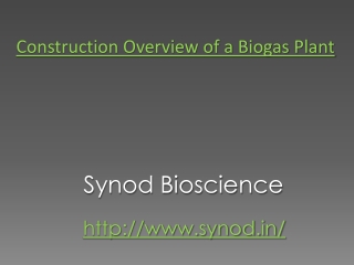 Construction Overview of a Biogas Plant