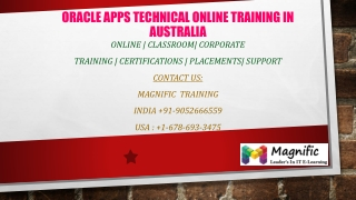 Oracle apps technical online training in Australia