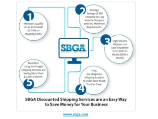 An Infographic on SBGA Discounted Shipping Services