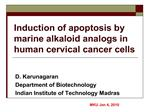 induction of apoptosis by marine alkaloid analogs in human cervical cancer cells