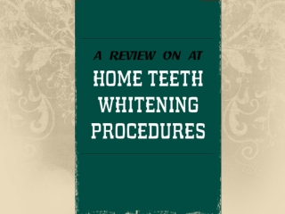 A Review on At-Home Tooth Whitening in Charlotte