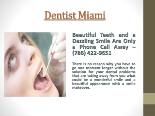 Dentist Miami