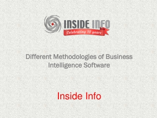 Different Methodologies of Business Intelligence Software