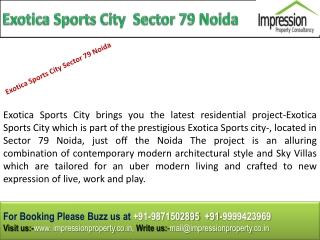Exotica Sports City @@ 91-9871502895