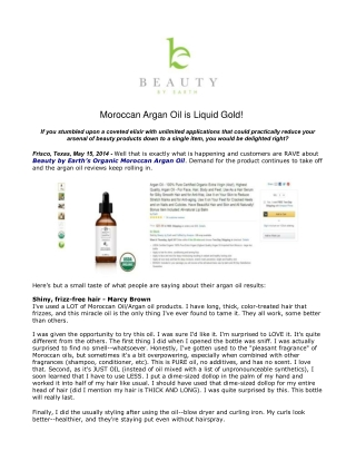 Moroccan Argan Oil is Liquid Gold!