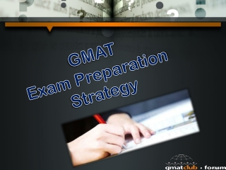 GMAT Exam Preparation Strategy