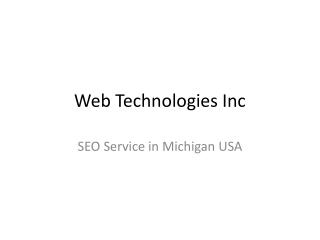 Web Technologies SEO