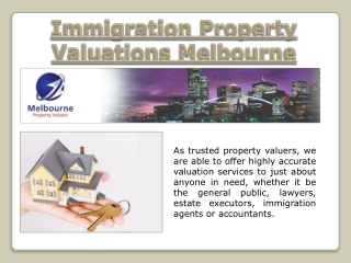 Immigration Property Valuations Melbourne