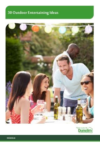 30 Outdoor Entertaining Ideas - Dunelm