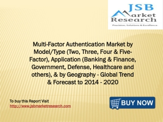 Multi-Factor Authentication Market by Model/Type
