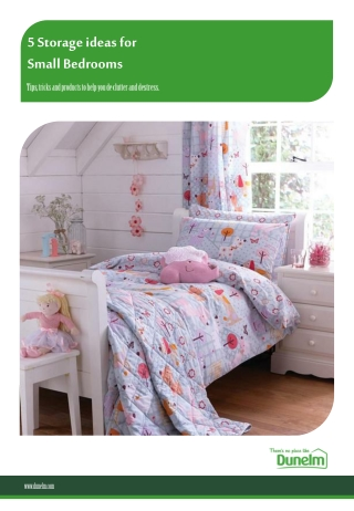 5 Storage Ideas for Small Bedrooms - Dunelm