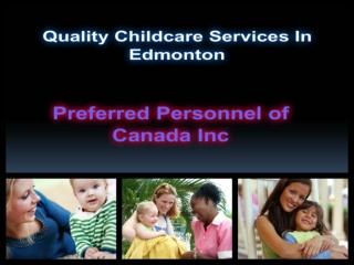Edmonton Nanny childcare